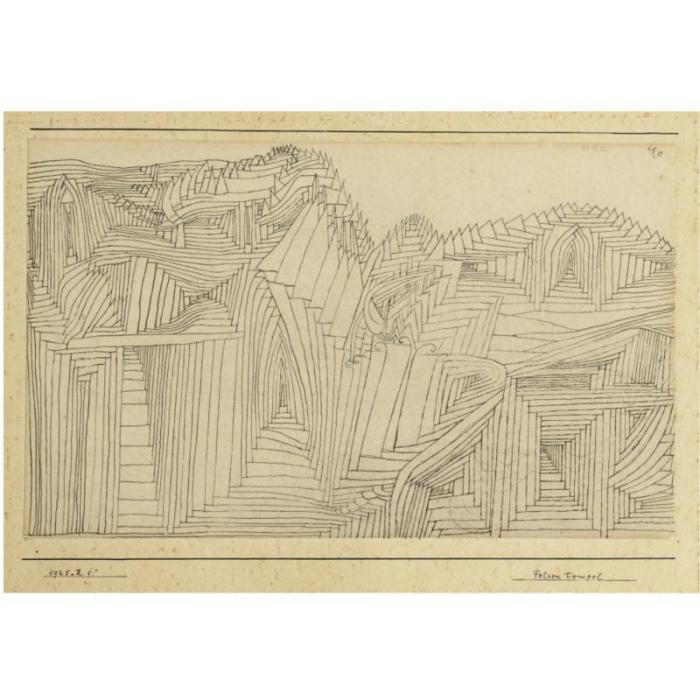 Paul Klee-Felsen Tempel (Rock-Cut Temple)-1925
