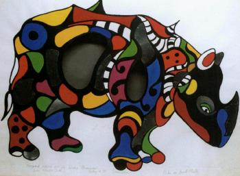 Niki de Saint Phalle-Rhinoceros-1995