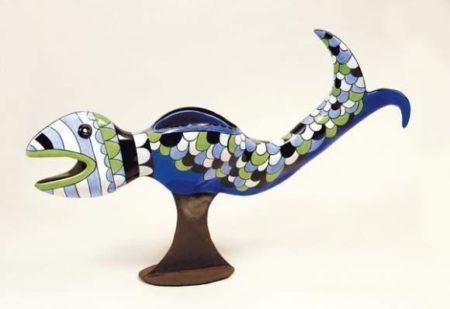 Niki de Saint Phalle-Le poisson vase-1992