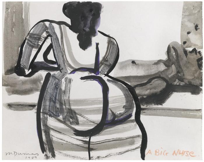 Marlene Dumas-A Big Nurse-1989