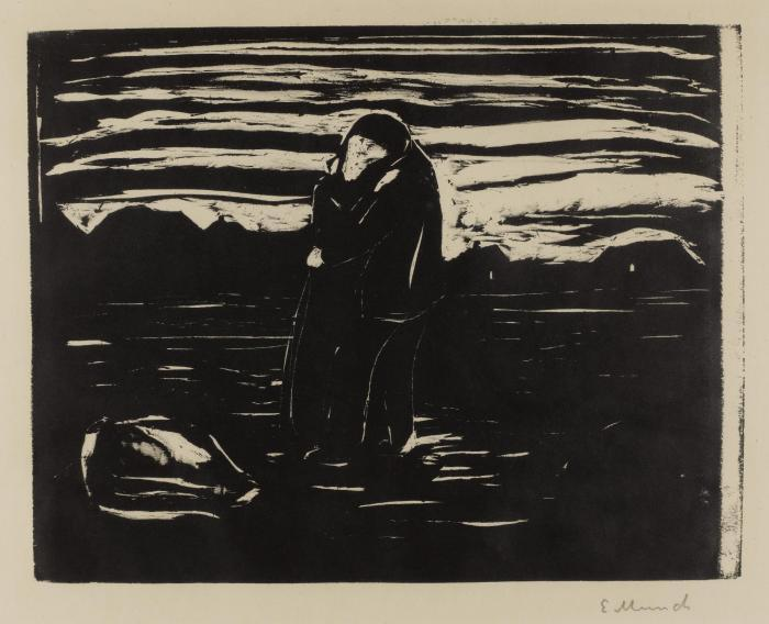 Edvard Munch-Kiss in the Field (Sch. 232; W. 270)-1905