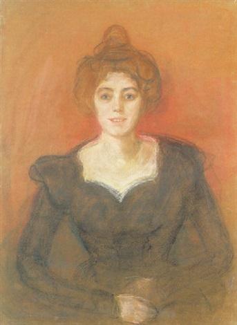 Edvard Munch-The Singer, Minchen Dietz-1893