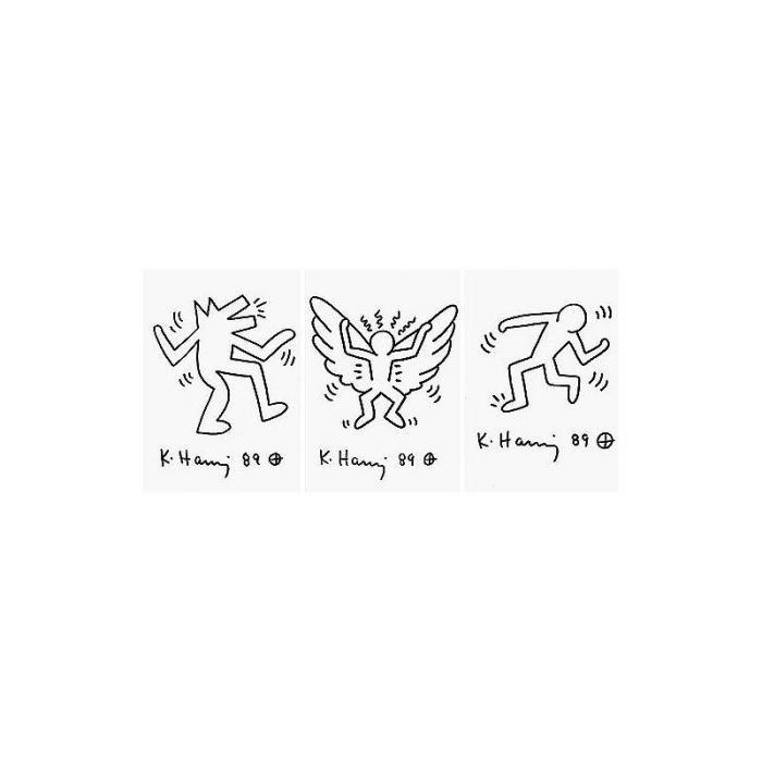 Keith Haring-Keith Haring - Angel; Dancing Man; Running Man-1989