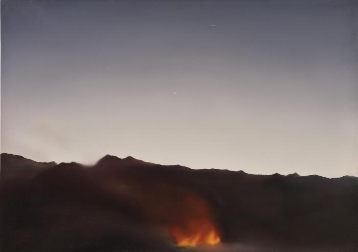 Gerhard Richter-Korsika (Feuer) / Corsica (Fire)-1969