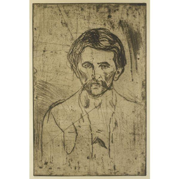 Edvard Munch-Arbeider med Bart / Worker With Moustache (Schiefler 201; Woll 233)-1903