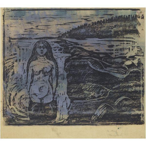 Edvard Munch-Woman Bathing (Sch. 128; W. 151)-1899