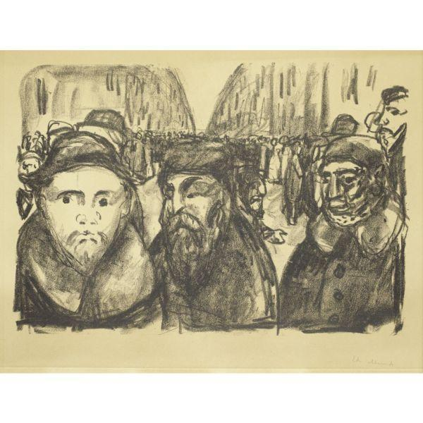 Edvard Munch-Genthinerstrasse in Berlin After the War-1920