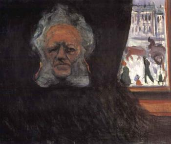 Edvard Munch-Ibsen in the Grand Cafe-1898