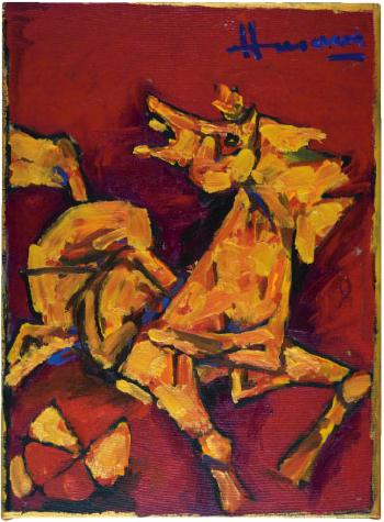 Maqbool Fida Husain-Horse-2011