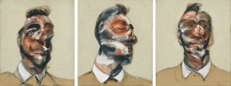 Francis Bacon-Three Studies For Portrait of George Dyer (On Light Ground)-1964