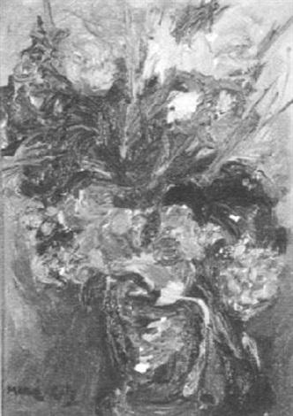Alex Katz-Still Life of Vase with Flowers-
