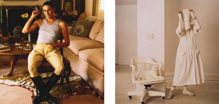 Annie Leibovitz-Vanity Fair Portraits: Diane Keaton, Donna Karan, Anjelica Huston, and Malcolm McLaren-1985