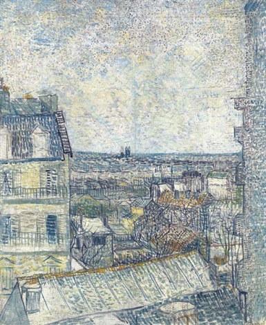 Vincent van Gogh-La vue de la chambre de l'artiste, Rue Lepic-1887