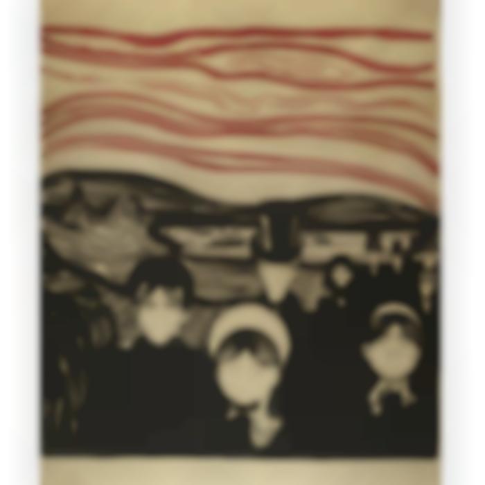 Edvard Munch-Angst / Anxiety (W. 63; Sch. 61)-1896