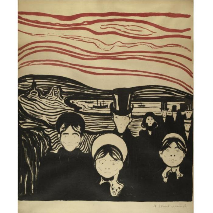 Edvard Munch-Angst / Anxiety (W. 63; Sch. 61)-1896