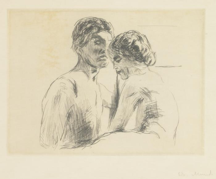 Edvard Munch-Man and Woman (W. 480)-1914