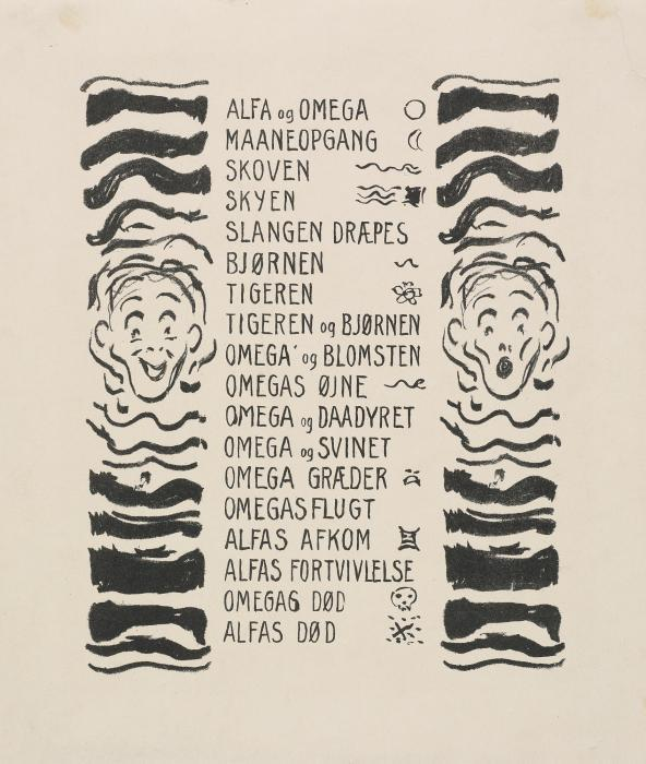 Edvard Munch-Alpha And Omega: Two Plates (1908)-1909