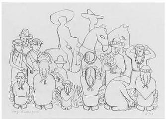 Diego Rivera-Flower Market-1930
