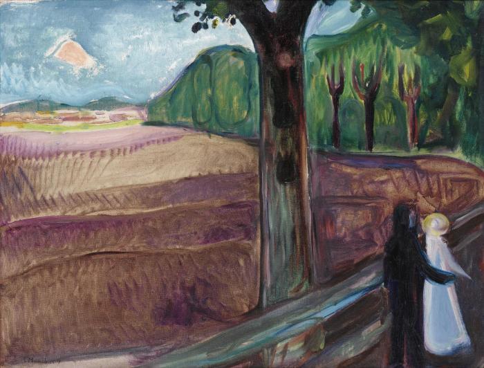 Edvard Munch-Sommernatt / Summer Night-1917