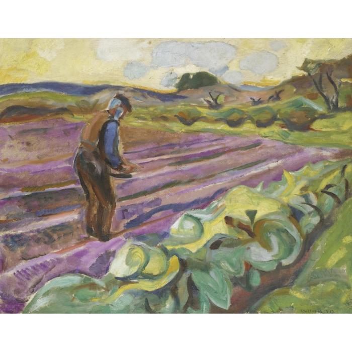 Edvard Munch-Samannen (The Sower)-1913