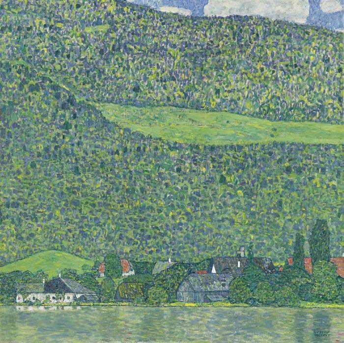 Gustav Klimt-Litzlberg Am Attersee-1915