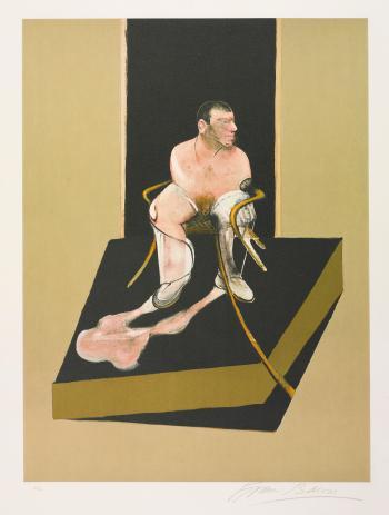 Francis Bacon-Triptych 1986-1987: Study For a Portrait of John Edwards-1986