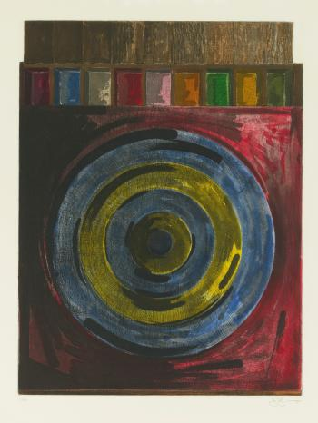 Jasper Johns-Target With Plaster Casts (Ulae 208)-1980