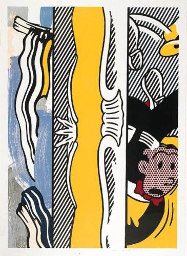 Roy Lichtenstein-Two Paintings: Dagwood-1984