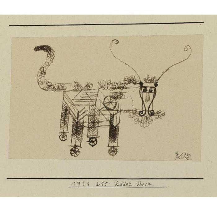 Paul Klee-Rader-Bock (Billy-Goat On Wheels)-1921