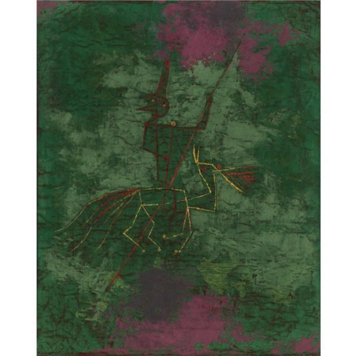 Paul Klee-Versprengter Reiter (Rider Astray)-1929