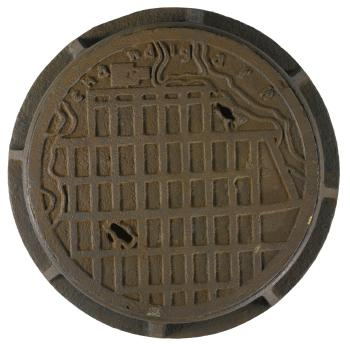 Le Corbusier-Manhole cover and Base from chandigarh, India-1955