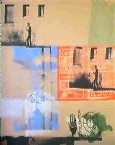 Robert Rauschenberg-Robert Rauschenberg - Lichen (Salvage Series)-1984