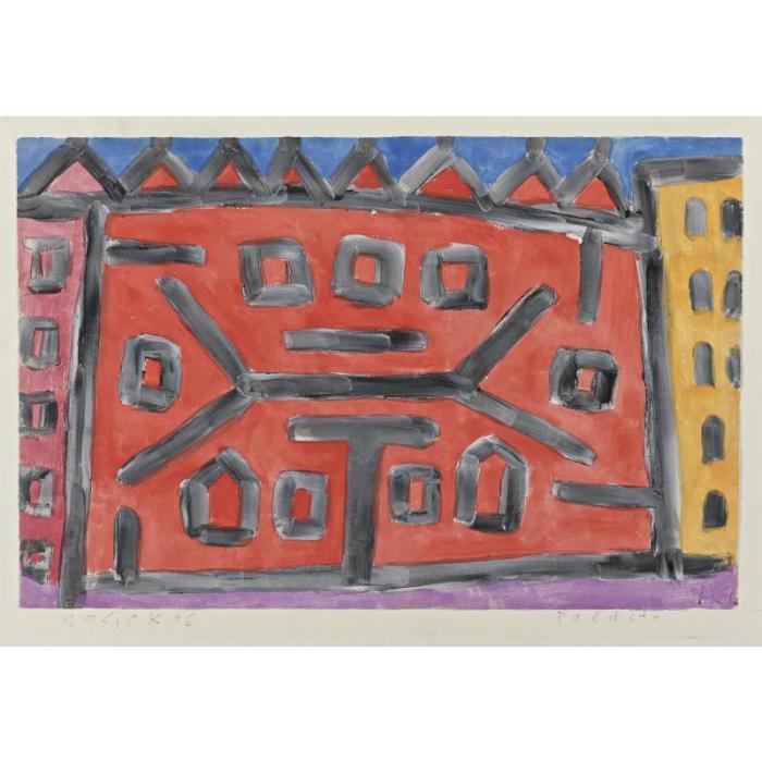 Paul Klee-Palaste (Palace)-1940