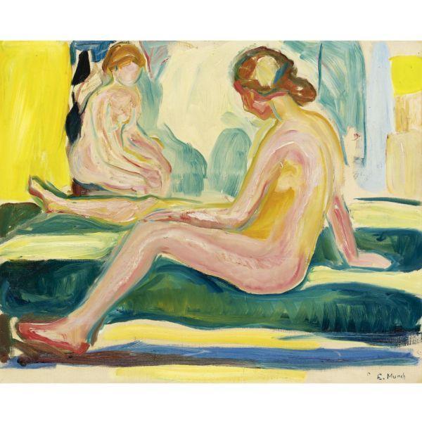 Edvard Munch-Seated Female Nudes-1917