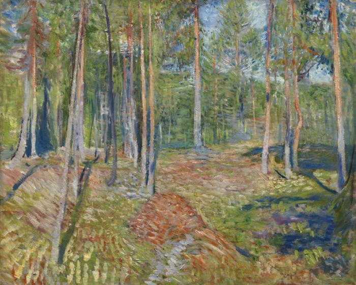 Edvard Munch-Furuskog (Pine Forest)-1892