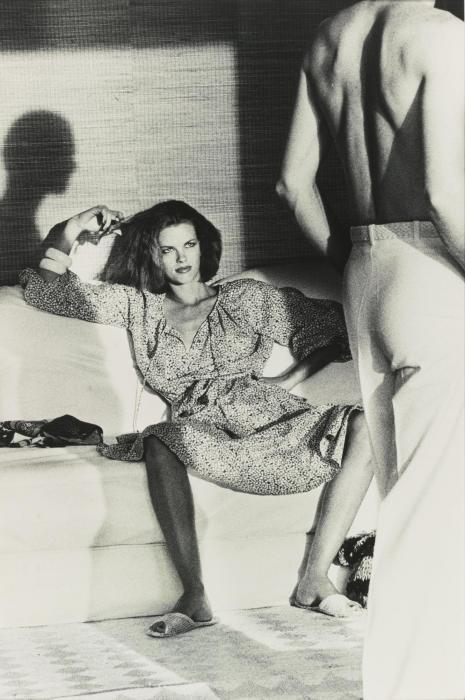 Helmut Newton-Woman Examining Man, U. S. Vogue, St. Tropez-1975