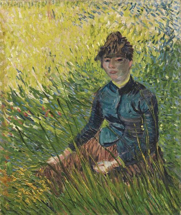 Vincent van Gogh-Femme dans un champ de ble-1887