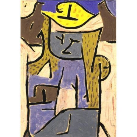 Paul Klee-Madchen Mit Gelbem Hut (Girl Wearing A Yellow Hat)-1938