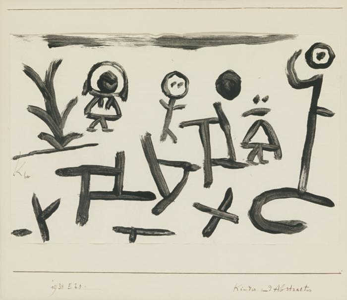 Paul Klee-Kinder Und Abstractes (Children And Abstractions)-1938