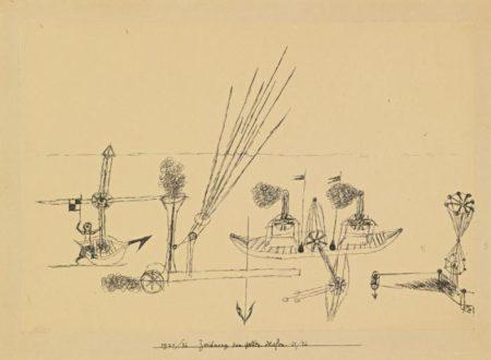 Paul Klee-Zeichnung Zum Gelben Hafen (Drawing For Yellow Harbor)-1921