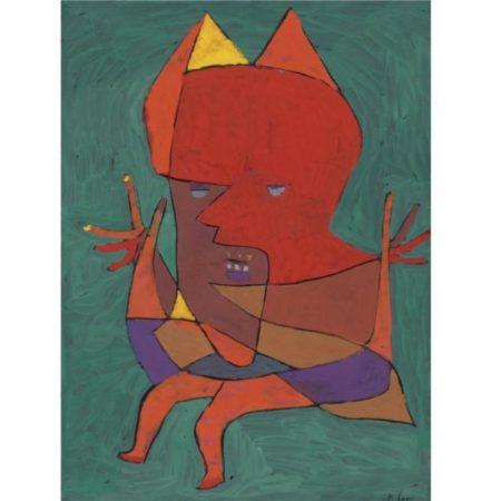 Paul Klee-Figurine: Kleiner Furtufel (Figurine: Small Fire Devil)-1927