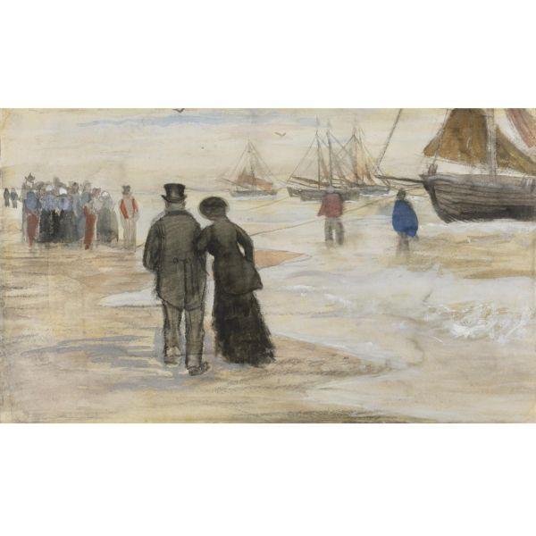 Vincent van Gogh-The beach at Scheveningen-1882
