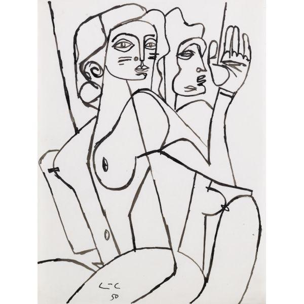 Le Corbusier-Deux jeunes femmes-1950