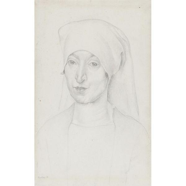 Diego Rivera-Portrait of Angeline Beloff-1918