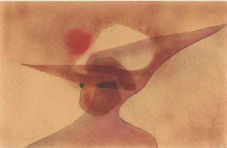 Paul Klee-Dame Im Breiten Hut (Lady In A Wide-Brimmed Hat)-1931