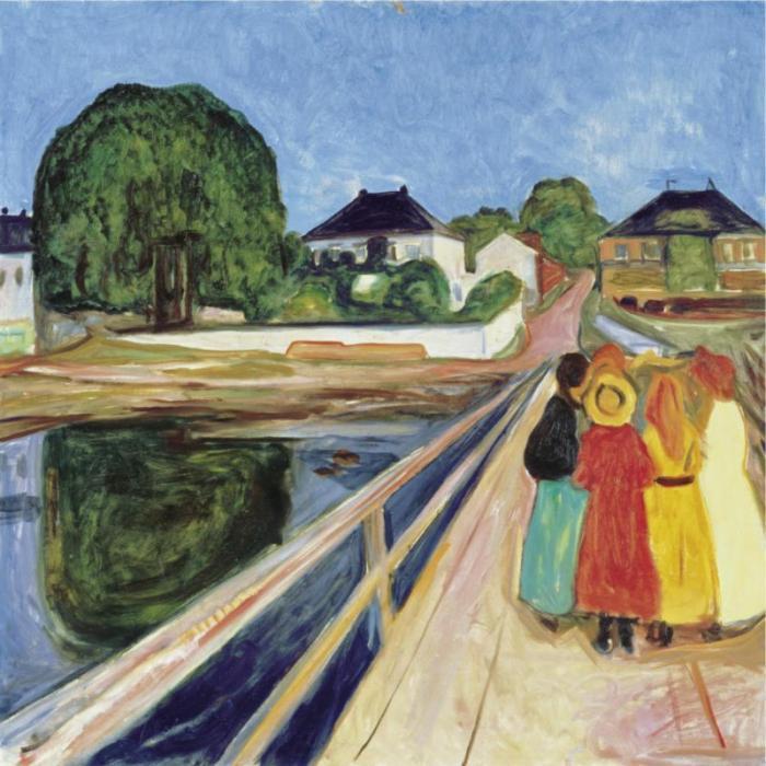 Edvard Munch-Girls on a Bridge-1902