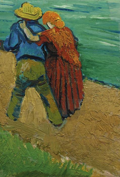 Vincent van Gogh-Eglogue en Provence - un Couple d'Amoureux-1888