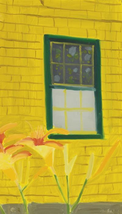Alex Katz-Yellow House with Lilies-1885