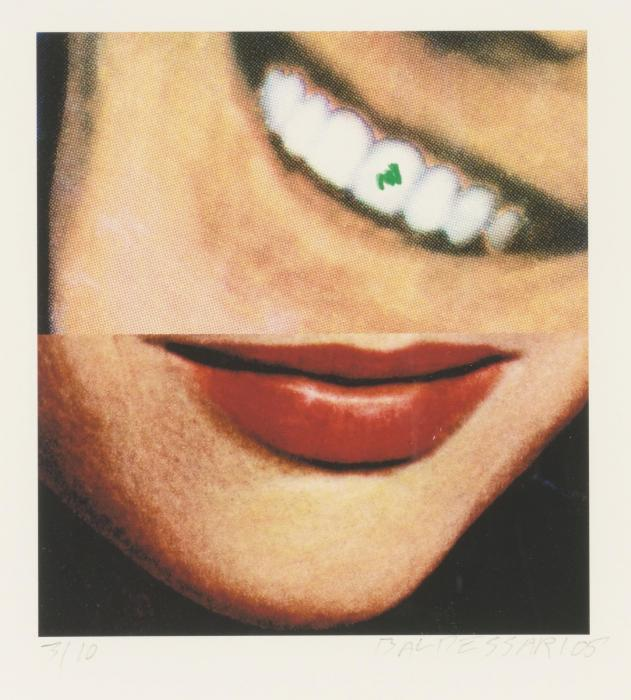 John Baldessari-Two Smiles (One with Spinach)-2005
