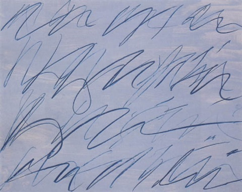 Cy Twombly-Roman note no.7-1970